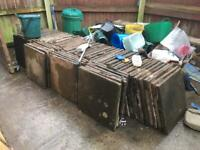 85 concrete slabs £2 each