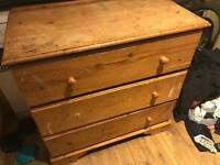 Solid pine chest of draws needs a good tidy up