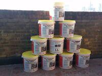 10x 25kg KA Tanking Slurry Grey Bucket Water Damp Proofing Masonry