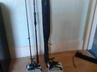 2x carp rods 2xcarp reels