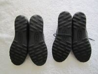Two pairs of ladies genuine Hotter black/maroon comfort concept flats leather shoes UK size 5.5 in