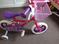 Bike kids girl new once used