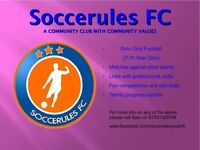 Girl Football players wanted aged 7-11