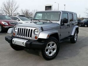 2013 Jeep WRANGLER UNLIMITED SAHARA-4 DOOR-C/W HARD AND SOFT TOP