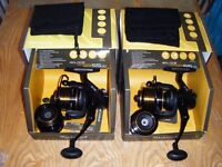 2 wychwood 55QD reels boxed with spare spools swap for 1 daiwa ss2600 or 1 scope sawn off or sell