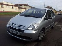 07 citroen xsara 1.6 picasso desire 16v 5 door mpv.petrol.manual.anti-lock brakes.
