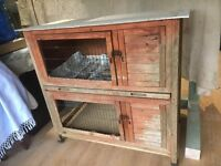 Rabbit Hutch Two Tier - Good condition and clean.