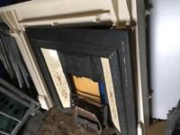Cast iron fire and surround tile inset