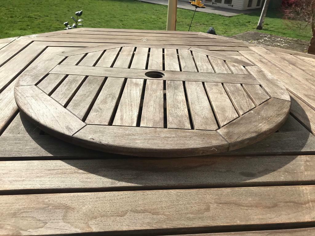 Fine quality teak 4 8 seater extending dining table camden