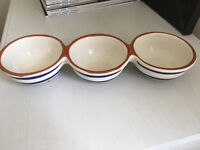 13 x Waitrose Vilamoura Range 3x Dipping Bowls almost new - used once.