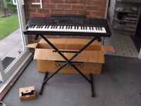 TECHNICS KN470 ELECTRONIC KEYBOARD with stand, instruction book, music stand - BOXED