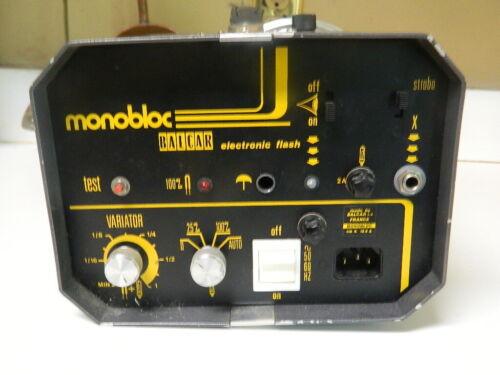 Balcar Monobloc Electronic Flash Complete Plus Cords Excellent Working Condition