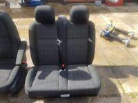 MERCEDES VITO TWIN PASSENGER SEAT TUNJA CLOTH BLACK W447