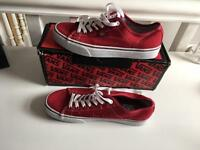 Red vans worn once ONO size 7
