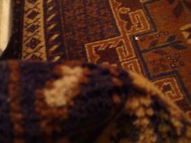 Hand Made Afghan Runner Rug 296cm x 92cm
