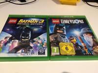 Xbox one Lego Batman 3 & Lego dimensions game discs