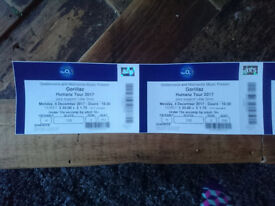 2x Gorillaz Tickets, 02 Arena, Monday 4th December - £60 each
