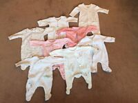 Tiny baby clothes bundle - girl