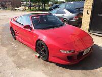 1991 TOYOTA MR2 GT RED TARGA TOP T-BAR, MODIFIED, CUSTOM, SHOW CAR, PROJECT