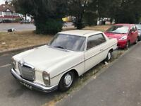 MERCEDES BENZ 280 CE AUTOMATIC 2 DR/ CLASSIC CAR 1971 MODEL/ 85000 GENUINE MILES / MOT TILL FEB 2019
