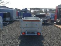 BRAND NEW 7.7x4.2 SINGLE AXLE TRAILER- CAMPING TRAILER DOUBLE BROADSIDE TIPPING