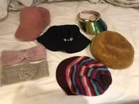 7 ladies hats, all for £5