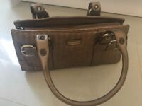 Karen Millen Bronze/Gold Handbag