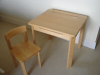 KIDS WOODEN DESK AND CHAIR - JOHN LEWIS