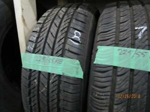 225/55R18 SINGLE ONLY USED BRIDGESTONE A/S TIRE
