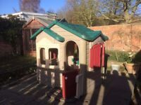 Welcome Home Playhouse (TM) Very large, robust plastic playhouse for outdoors.