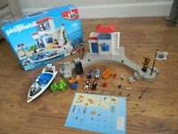 Playmobil 5128 Harbour Police with Speedboat with box & instructions.