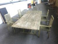 Garden table and 5 chairs free for collection.Unit clearance so free to first person who can collect
