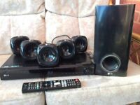 CHRISTMAS HAS COME - LARGE PRICE REDUCTION. LG BLU-RAY HOME CINEMA SYSTEM MODEL No. HB405SU.