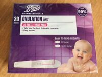 Boots 20 ovulation test pack UNOPENED