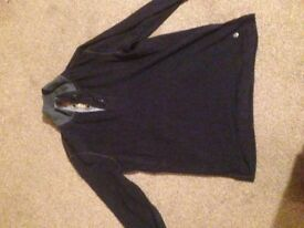 Hugo Boss black cotton sweatshirt
