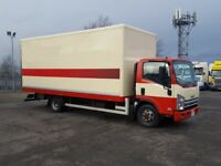 15x 2013-62 plate isuzu npr 150-75 20ft box vans low klms ex contract plus ...