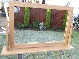 LOVELY LARGE SOLID OAK FREE STANDING MIRROR FROM NEXT