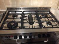 Belling range cooker and hood