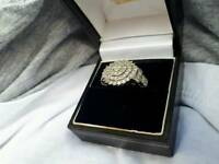 1.50ct diamond ring in 9k white gold
