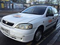 7 2004 vauxhall astra van bi fuel gas and petrol congestion charge free long mot good driver