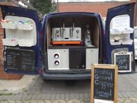 Mobile Catering Coffee Van In A Renault Kangoo With Stock