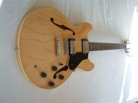 Yamaha SA 1100 electric guitar - Japan - '95 - Gloss natural - Gibson 335 homage