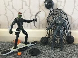"Spiderman 3 Action Figure Bundle: Spiderman (5"") and New Goblin (5"") (Excellent Condition)"
