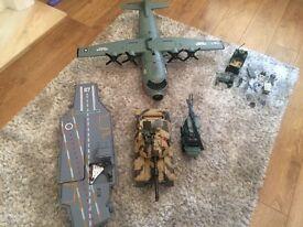 Large military toy bundle