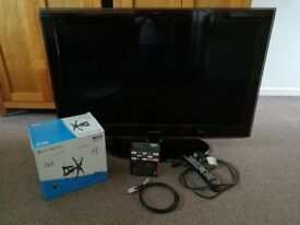 Samsung 40inch HD LCD TV with Amazon Fire TV Stick and wall mount