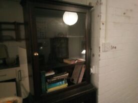 Glass fronted cabinet / bookcase