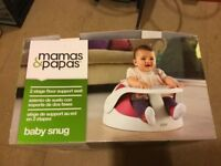 Mamas and Papas Baby Snug (2 stage support seat) and Play Tray - BRAND NEW