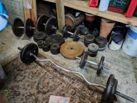 1 inch Cast iron Weights, Dumbbells and Barbells