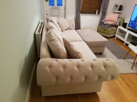 Amazing 4 seater sofa plus footstool