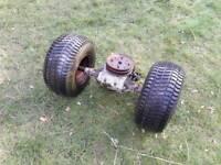 Ride on mower transaxle wheels tyres atco peerless tecumseh